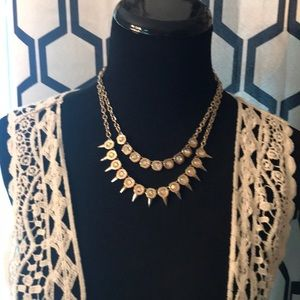 """Glam Girl"" gold tone necklace"